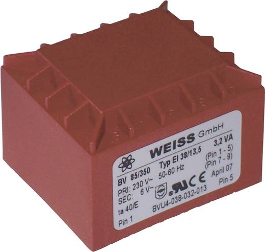 Printtransformator 3,2 VA Primair: Secundair: 3,2 VA 85/350 Weiss Elektrotechnik