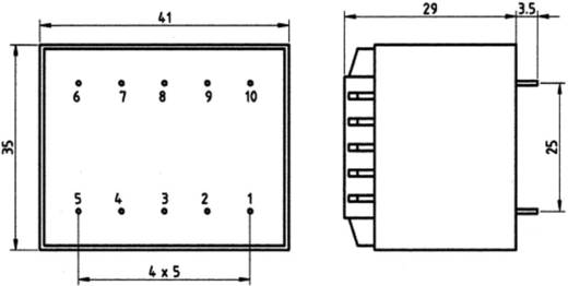 Printtransformator 1 x 230 V 1 x 12 V/AC 3.20 VA<br