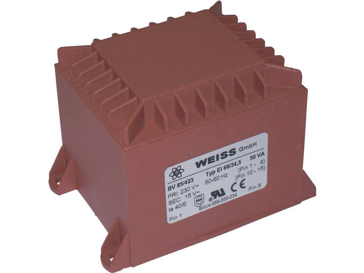 Printtransformator 1 x 230 V 1 x 12 V AC 50 VA 4.17 A 85 422 Weiss Elektrotechni