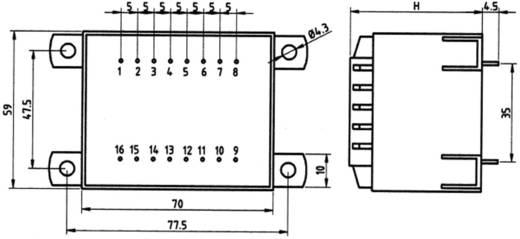 Printtransformator 1 x 230 V 1 x 24 V/AC 50 VA