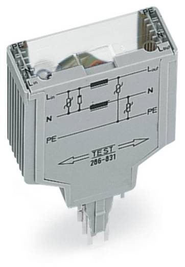 WAGO 286-831 Overspanningsafgeleider 1 stuks Geschikt voor serie: Wago serie 280 Geschikt voor model: Wago 280-628, Wago 280-638, Wago 280-764