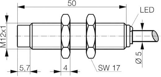 Contrinex DW-AD-617-M12 Inductieve naderingsschakelaar M12 Niet vlak