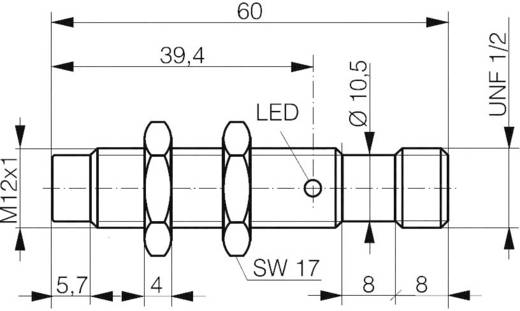Contrinex DW-AS-617-M12-069 Inductieve naderingsschakelaar M12 Niet vlak