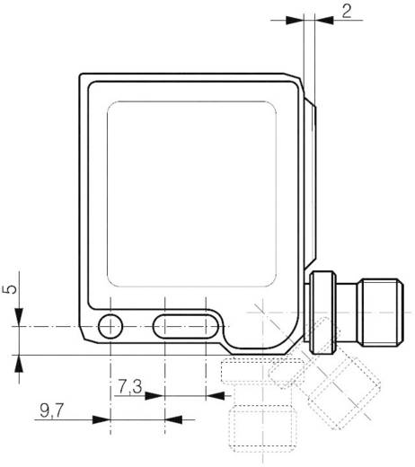 Compacte, vierkante reflectie lichtsensor