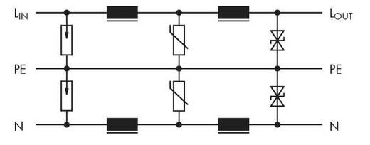 WAGO 286-834/024-000 Overspanningsafgeleider 1 stuks Geschikt voor serie: Wago serie 280 Geschikt voor model: Wago 280