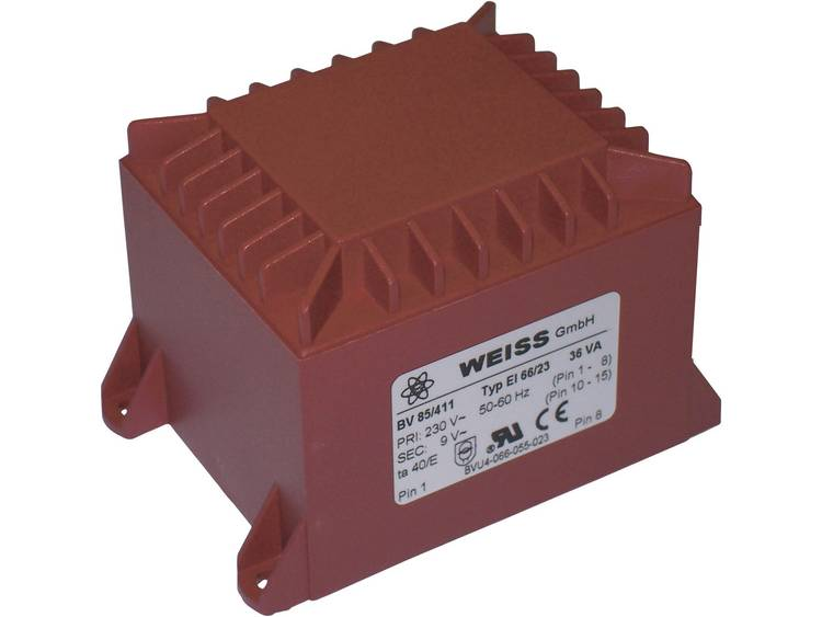 Printtransformator 1 x 230 V 1 x 15 V AC 36 VA 2.40 A 85 413 Weiss Elektrotechni