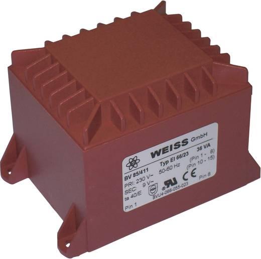 Printtransformator 1 x 230 V 1 x 18 V/AC 36 VA 2 A 85/414 Weiss Elektrotechnik