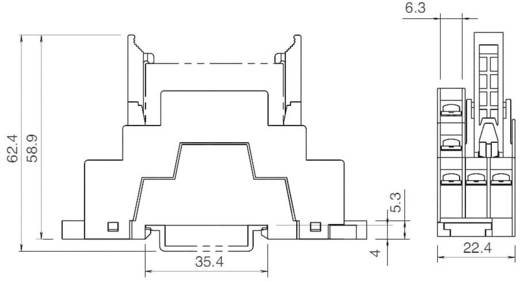 Idec SF1V-4-07L Relaissocket 1 stuks Geschikt voor serie: Idec serie RF1V (l x b x h) 75 x 22.4 x 58.9 mm