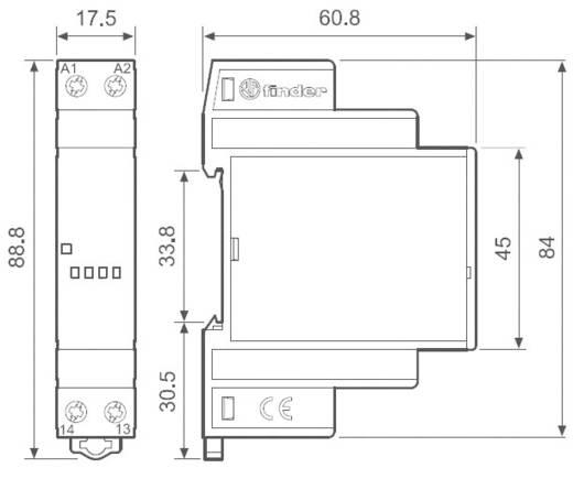 Finder 77.01.0.024.8050 Halfgeleiderrelais 1 stuks Laadstroom (max.): 5 A Schakelspanning (max.): 240 V/AC