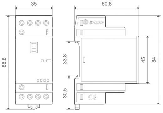 Finder 22.34.0.024.4640 Bescherming 1 stuks 2x NO, 2x NC 24 V/DC, 24 V/AC 25 A