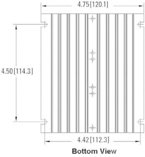 Koellichaam 0.7 K/W (l x b x h) 139.7 x 120.1 x 66.8 mm Crydom HS072