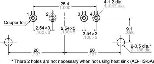 Panasonic AQ10A2ZT432 Halfgeleiderrelais 1 stuks Laadstroom (max.): 5 A Schakelspanning (max.): 250 V/AC Schakelend bij
