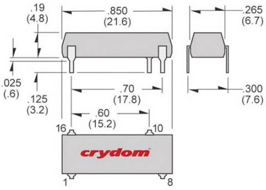 Crydom SDV2415R Halfgeleiderrelais 1 stuks Laadstroom (max.): 1.5 A Schakelspanning (max.): 280 V/AC Direct schakelend