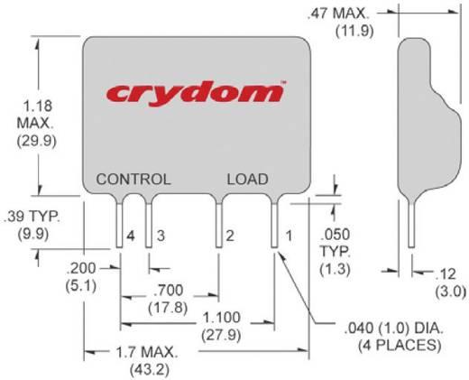 Crydom D2W202F Halfgeleiderrelais 1 stuks Laadstroom (max.): 2 A Schakelspanning (max.): 280 V/AC Schakelend bij overbel