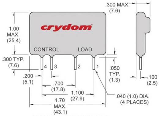 Crydom CX240D5 Halfgeleiderrelais 1 stuks Laadstroom (max.): 5 A Schakelspanning (max.): 280 V/AC Schakelend bij overbelasting