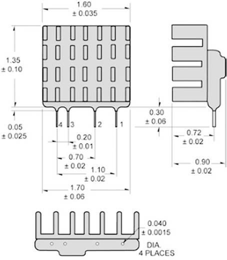Crydom SPF240A25 Halfgeleiderrelais 1 stuks Laadstroom (max.): 25 A Schakelspanning (max.): 280 V/AC Schakelend bij over
