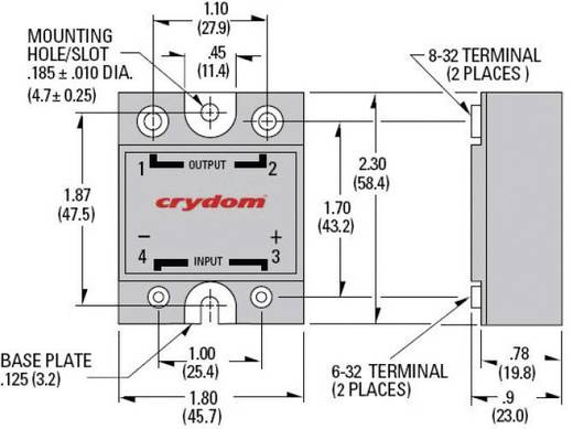 Crydom PSD4850 Halfgeleiderrelais 1 stuks Laadstroom (max.): 50 A Schakelspanning (max.): 530 V/AC Schakelend bij overbe