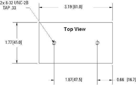 Koellichaam 3 K/W (l x b x h) 81 x 45 x 46.5 mm <br