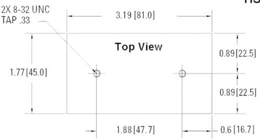 Koellichaam 2 K/W (l x b x h) 81 x 45 x 86.5 mm Crydom HS201DR