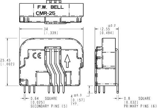 Honeywell CSNX25 Stroomsensor 5 V/DC Meetbereik: 0 - 40 A Print