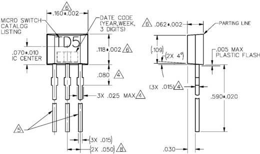 Honeywell TD5A Temperatuursensor TD-serie -40 tot +150 °C Soort behuizing TO 92