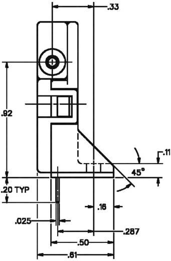 Honeywell AWM3100V Doorstroomsensor 1 stuks Voedingsspanning (bereik): 10 - 15 V/DC (l x b x h) 54.4 x 15.4 x 31.5 mm