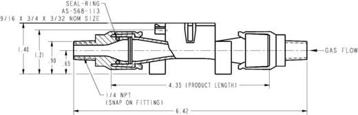Honeywell AWM5104 VC Doorstroomsensor 1 stuks Voedingsspanning (bereik): 10 - 15 V/DC Meetbereik: 0 - 20 l/min (l x b x