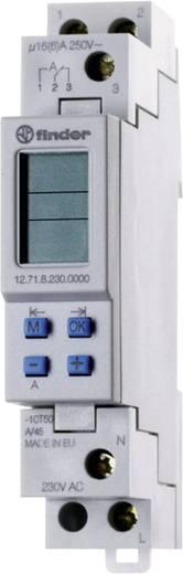 Tijdschakelklok Finder 12.71.8.230.0000 230 V~ 1 wisselaar (AC1) 16 A/250 V~