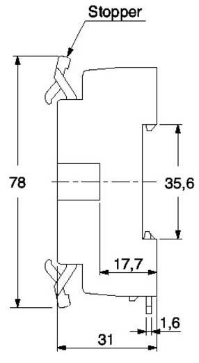 Panasonic ATC180041J Relaissocket 1 stuks (l x b x h) 71 x 51 x 31 mm