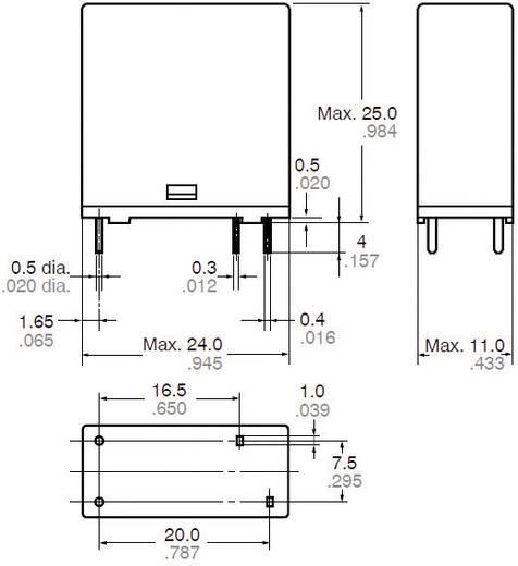 Panasonic LKP1AF24 Printrelais 24 V/DC 10 A 1x NO 1 stuks