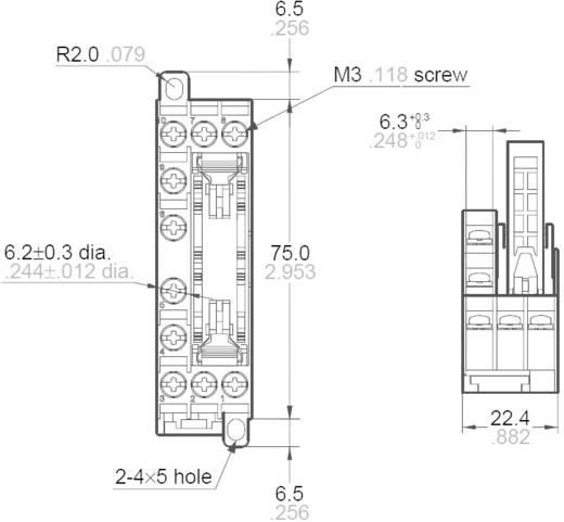 Panasonic SFS4SFD Relaissocket 1 stuks Panasonic serie SFS