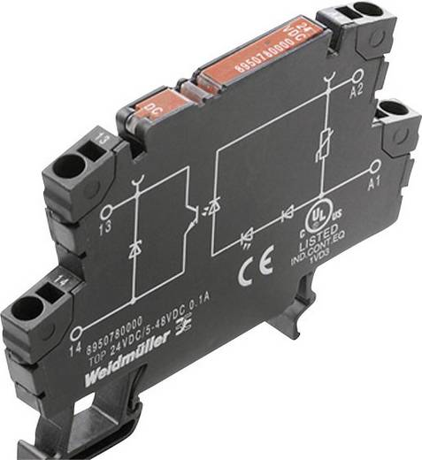 Weidmüller TOP 5VDC/48VDC 0,1A Halfgeleiderrelais 1 stuks Laadstroom (max.): 100 mA Schakelspanning (max.): 48 V/DC