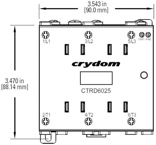 Crydom CTRD6025 Halfgeleiderrelais 1 stuks Laadstroom (max.): 25 A Schakelspanning (max.): 600 V/AC Schakelend bij overb