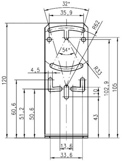 Leuze Electronic BT 46 Bevestigingssysteem Uitvoering (algemeen) Bevestigingsbeugel voor de serie 46B (b x h) 45 mm x 1
