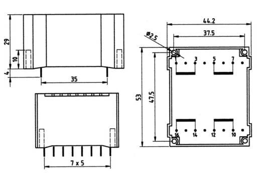 Printtransformator 1 x 230 V 2 x 9 V/AC 10 VA 556 mA 83/244 Weiss Elektrotechnik