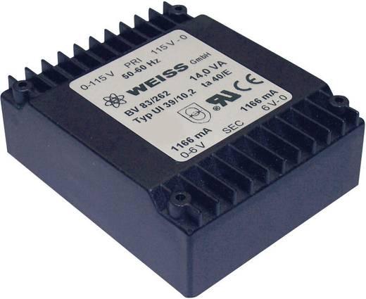 Printtransformator 1 x 230 V 2 x 6 V/AC 14 VA 1167 mA 83/262 Weiss Elektrotechnik