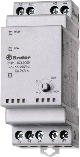 Finder 19.42.0.024.0000 Industrierelais 1 stuks Nominale spanning: 24 V/DC, 24 V/AC Schakelstroom (max.): 10 A 2x NO