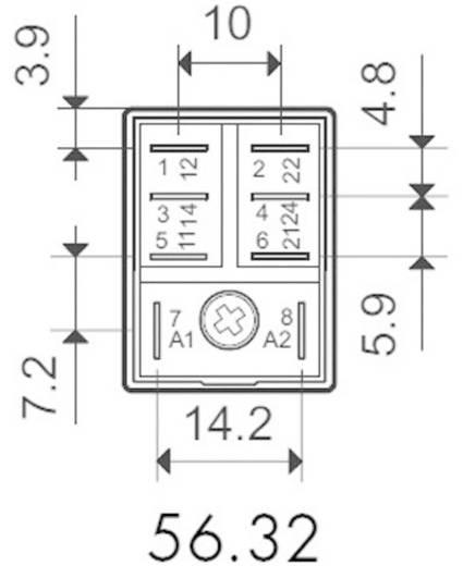 Finder 56.32.9.024.0040 Steekrelais 24 V/DC 12 A 2x wisselcontact 1 stuks