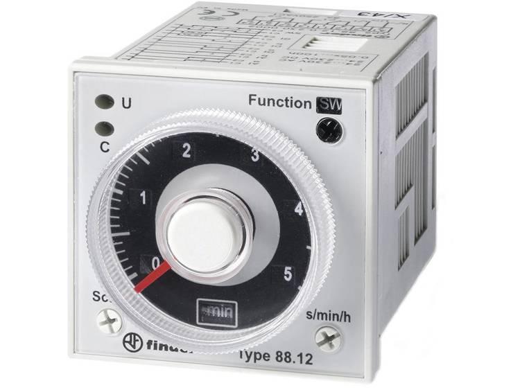 Tijdrelais Finder 88.12.0.230.0002 24-230 V DC-AC 2 wisselcontacten 5 A 250 V-AC-max. 400 V-AC (AC1)