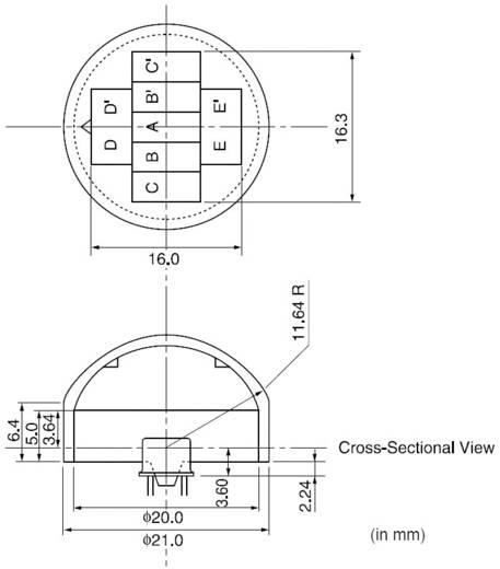 Murata PPGI 0601 Fresnellens 1 stuks (Ø) 21 mm