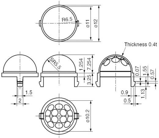 Murata IML-0669 Fresnellens 1 stuks (Ø x h) 12 mm x 7.25 mm