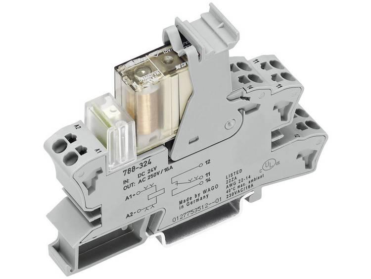 Insteekvoet met klein schakelrelais WAGO 788-346 2 wisselcontacten 2 x 8 A