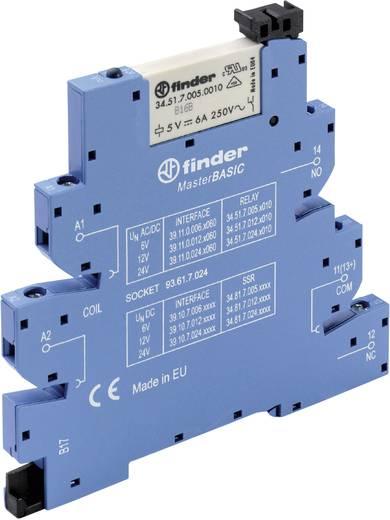 Koppelrelais 1 stuks 24 V/DC, 24 V/AC 6 A 1x wisselaar Finder 39.11.0.024.0060
