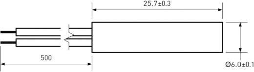 PIC MS-215-3 Reedcontact 1x NO 200 V/DC, 140 V/AC 1 A 10 W