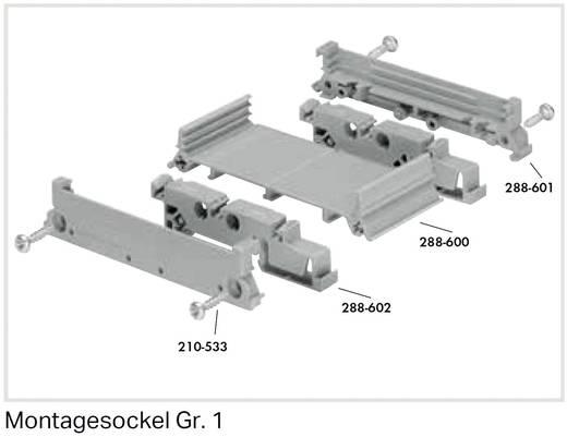 WAGO 288-602 Voet Grijs 1 stuks