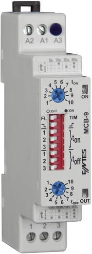 ENTES MCB-9 Multifunctioneel Tijdrelais 24 V/DC, 24 V/AC, 230 V/AC 1 stuks Tijdsduur: 0.1 s - 30 h 1x wisselaar