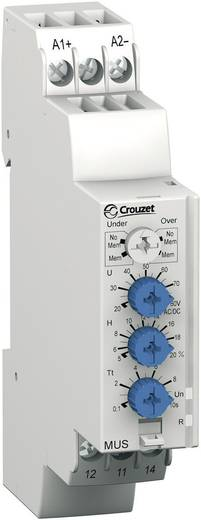 Relais voor de spanningsbewaking Crouzet MUS80 Bewakingsrelais voor over- /onderspanning