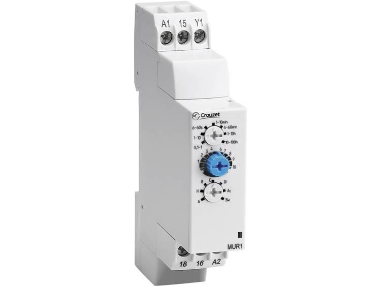 Elektronisch tijdrelais Chronos 2 Crouzet MUR1 24 V-DC- 24 240 V-AC 1 wisselcontact max. 8 A DC-AC m