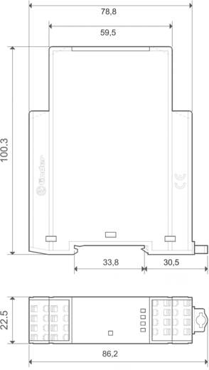 Finder 7S.16.9.024.0420 Industrierelais 1 stuks Nominale spanning: 24 V/DC Schakelstroom (max.): 6 A 4x NO, 2x NC