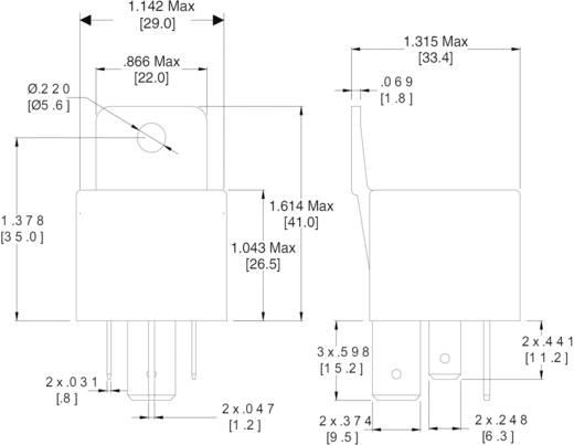 Auto-relais 12 V/DC 80 A 1x NO Zettler Electronics AZ979-1A-12D